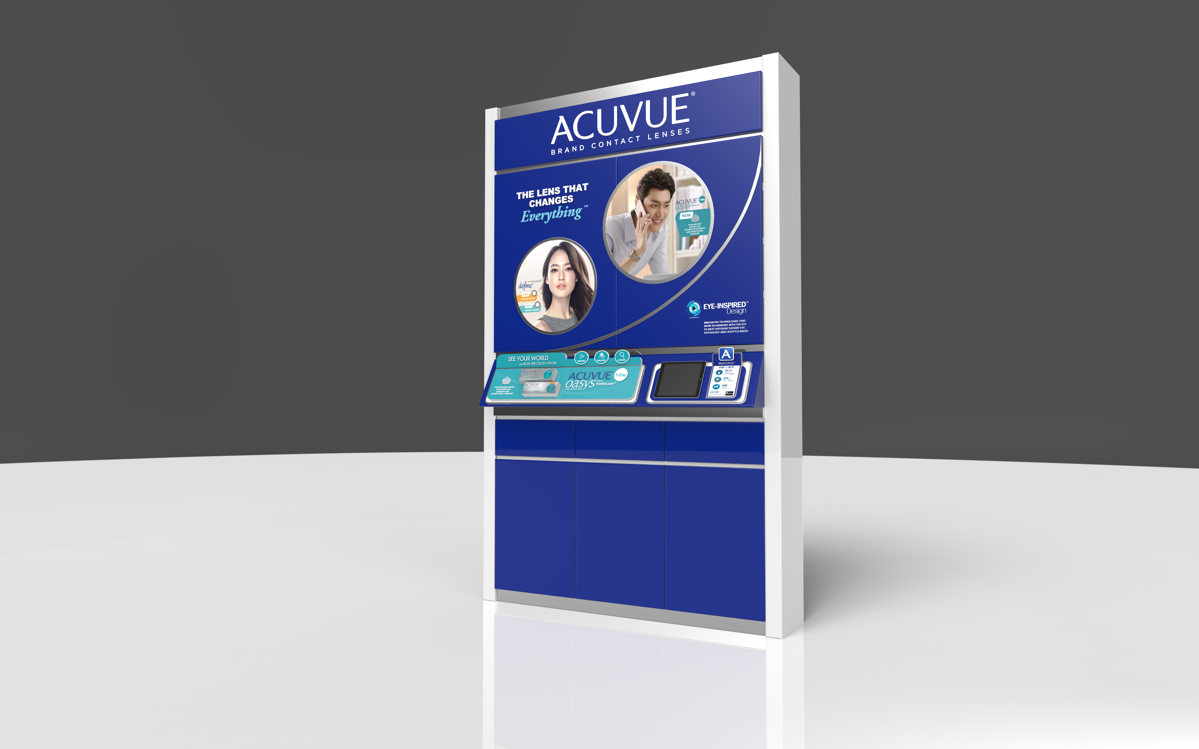 <p>We all know that retail space is a premium. With the rising cost of space, every inch is valuable. So when we were approached to produce a better storage solution for ACUVUE, we took this opportunity to not just build a cabinet but incorporate a better brand and marketing solution. […]</p>